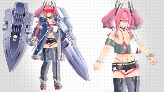 【MMD】『USS』ブレマートン【モデル配布】