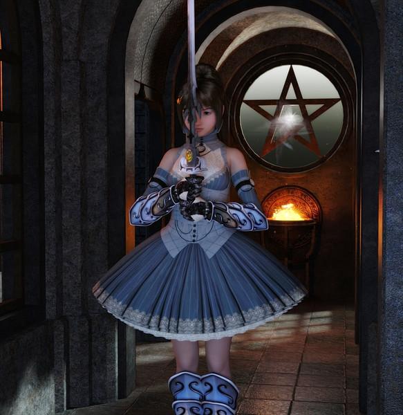 姫様の後光