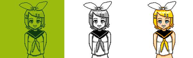【ゲームボーイ風】 鏡音リン【インテリ眼鏡 作<3】