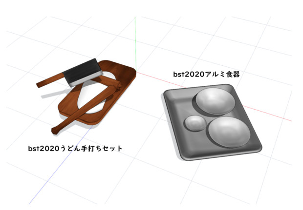 【MMD-OMF10】bst20200506うどん打ちセットとアルミ食器