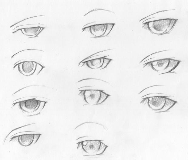 目の模索ラフ1男キャラ At バジル さんのイラスト ニコニコ静画