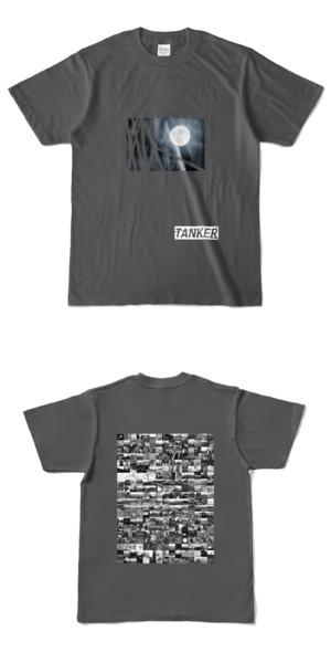 Tシャツ チャコール TANKER-B.MOON