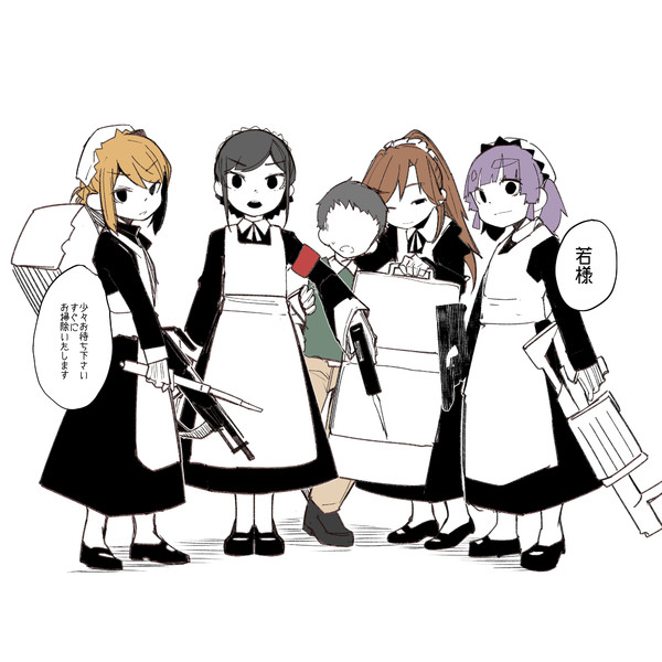 朝潮型侍女隊の黒い方