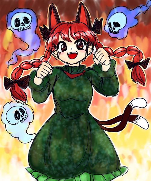 燃えるお燐ちゃん
