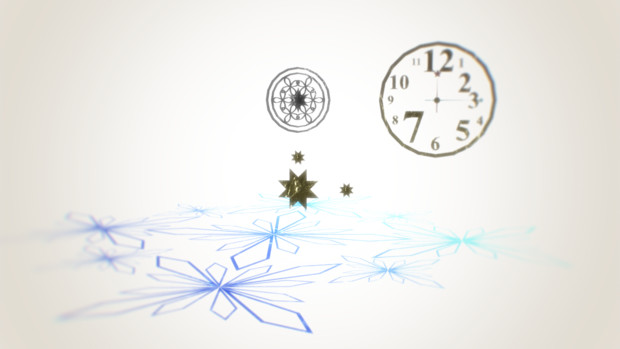 回転する時計