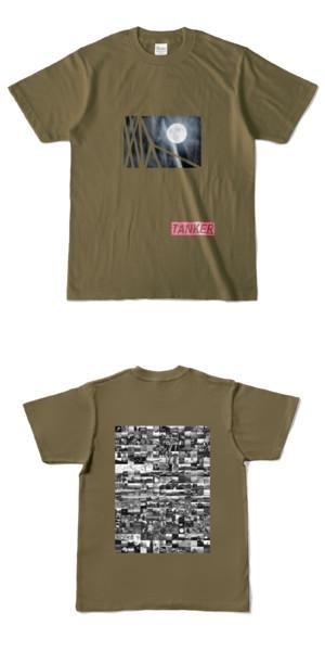 Tシャツ オリーブ TANKER-B.MOON