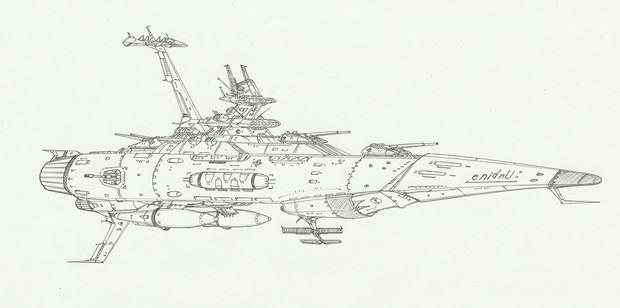 ウンディーネ級中型自動宇宙巡洋艦「自作艦」