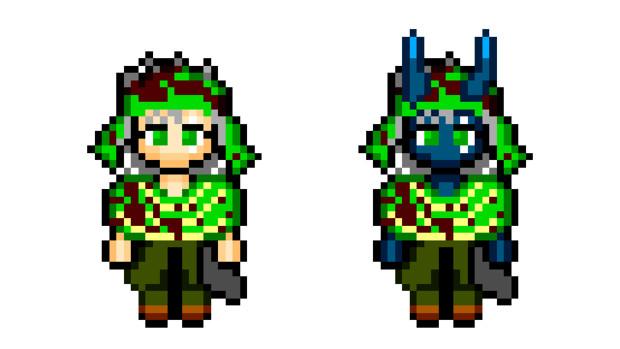 【ドット絵】蛇と邪神とアルフレイム冒険譚のグリーン