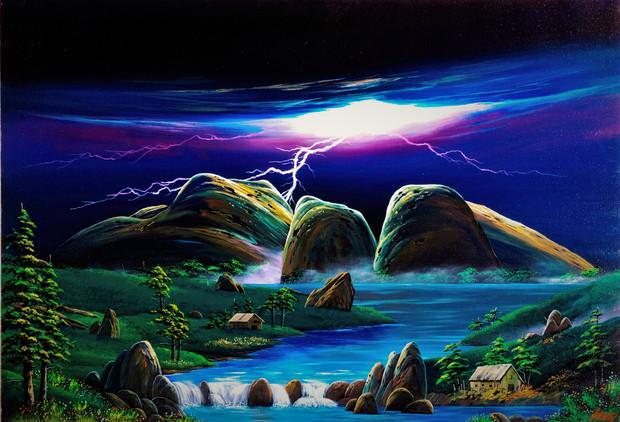 Mt.オルガの落雷