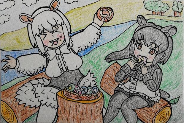 ジャパまんを食べるミナミコアリクイとマレーバク