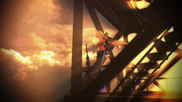 鉄塔の上で