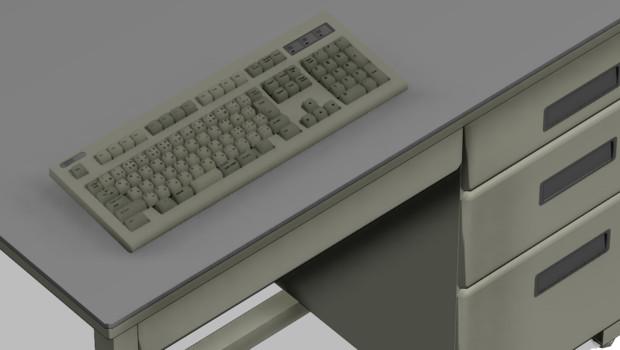 【MMD】IBMのキーボード