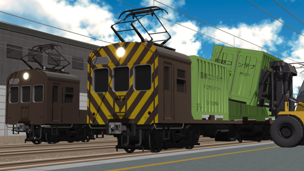 【MMD鉄道】クモヤ22形 コンテナ輸送試験車セット 公開