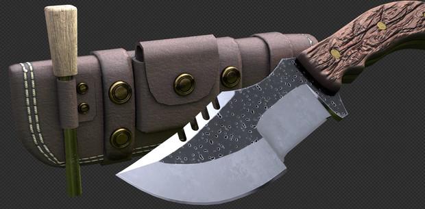 【MMD】トラッカーナイフ【モデル配布】