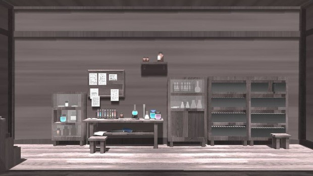 【MMDステージ配布あり】実験部屋ステージ