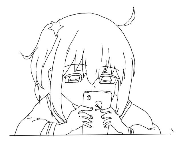 【描画】米拉 果然还是回复爬1(みら)
