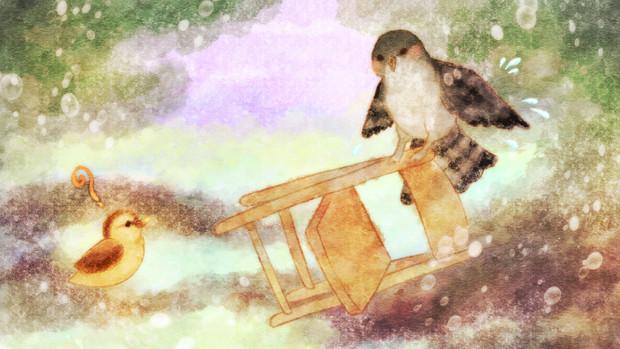 椅子にとまってくれたら楽しそうでした