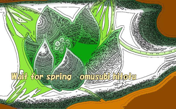 「春ぉ待つ 57」※線画・彩・おむ08954