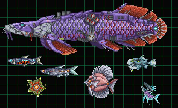 オリジナルSTGの雑魚