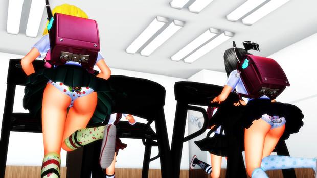 ランドセル少女たち 楽しく運動中!2