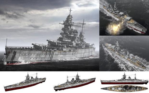 MMD用モブ高速戦艦1940(モブケルク)セット