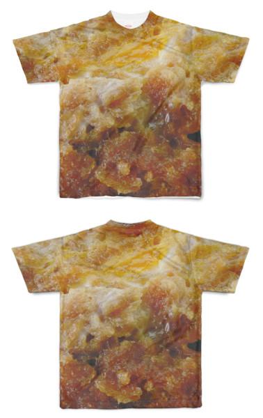 Tシャツ フルグラフィック 卵とじ