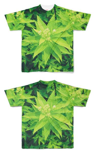 Tシャツ フルグラフィック 医療大麻(偽)