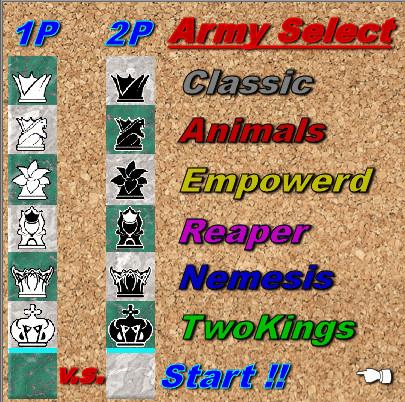 【Chess2】Army選択画面【製作途中】