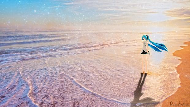 浜辺_Rellustration