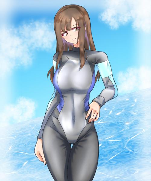 水本ゆかり×ウェットスーツ
