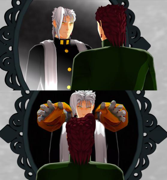 鏡に「中の世界」なんて