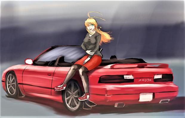 240SXとマキマキ