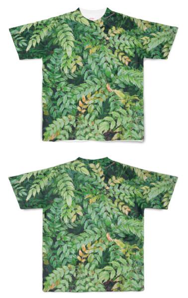 Tシャツ フルグラフィック ギザギザハッパ