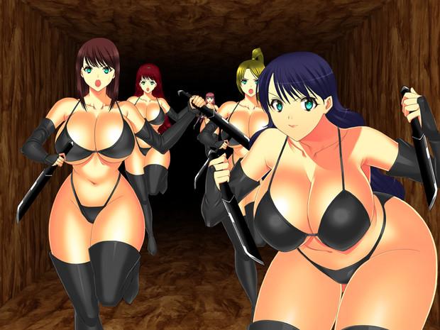 黒ビキニの女戦闘員
