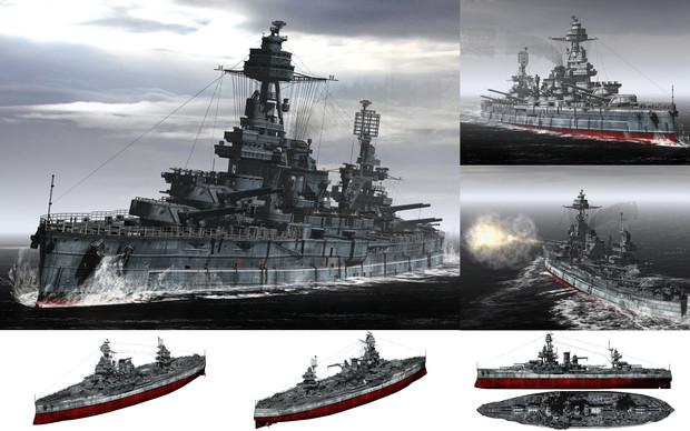 MMD用モブ超弩級戦艦1944(モブサス)セット