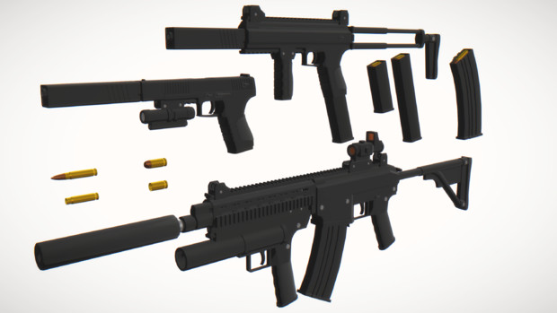 ESS Weapons【MMDモデル配布あり】