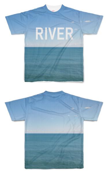 Tシャツ フルグラフィック これはRIVERです。