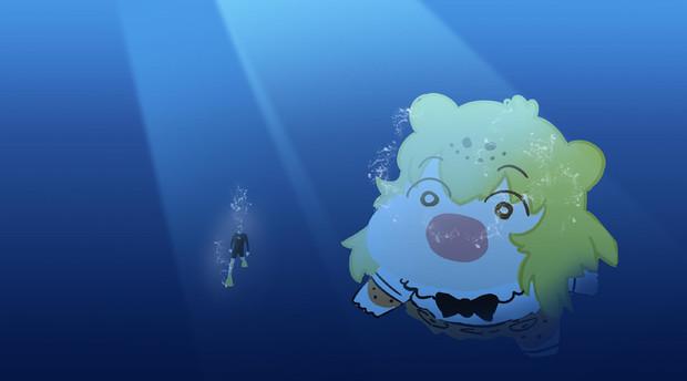ダイバーに忍び寄るジャガーちゃん