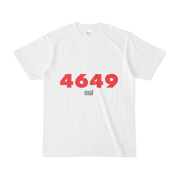 Tシャツ ホワイト 文字研究所 4649