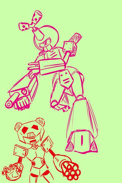 ロボは描けんてぇ…