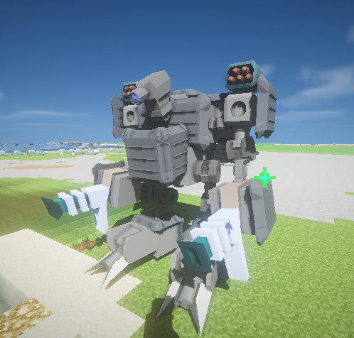 #Minecraft ポン付けパーツロボット #JointBlock