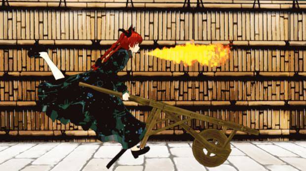 口から火が止まらなくなる呪いをかけられた火焔猫