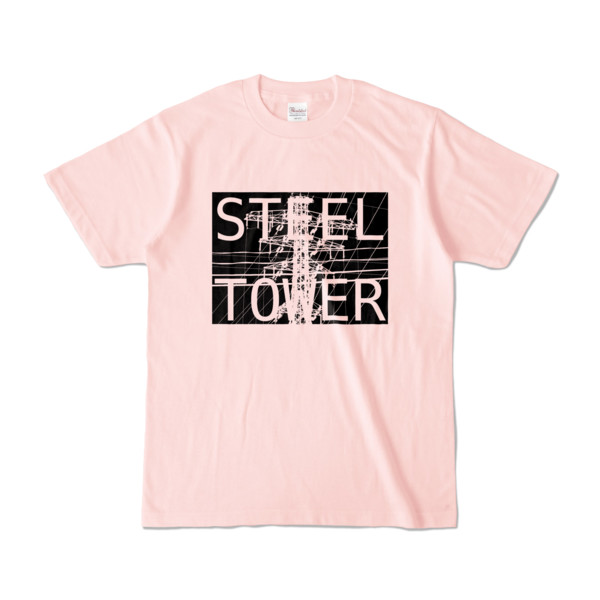Tシャツ ライトピンク STEEL☆TOWER