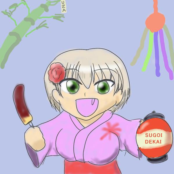 【宇崎ちゃん】来年は倍行いますっスよね!!【仙台七夕】