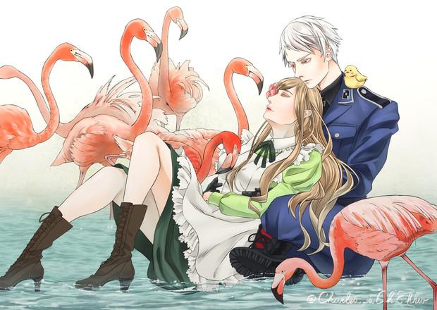 フラミンゴとギルエリ