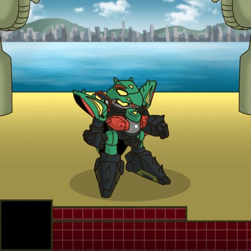 夢の対決!鎧玄武VSマスターガンダム