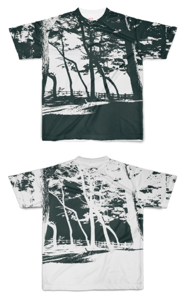Tシャツ フルグラフィック BW林