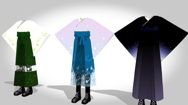 MMD用 袴風衣装配布