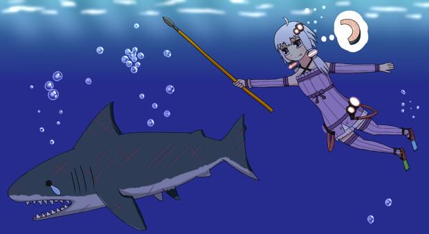 結月ゆかりのサメ狩り