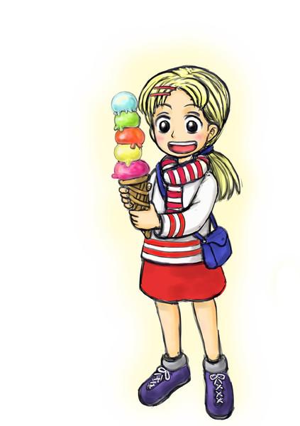 スモーカー大佐のズボンにアイスを食べさせてあげた子